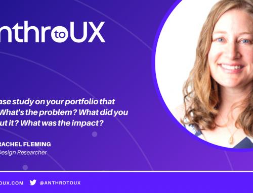 Rachel Fleming on Anthro to UX