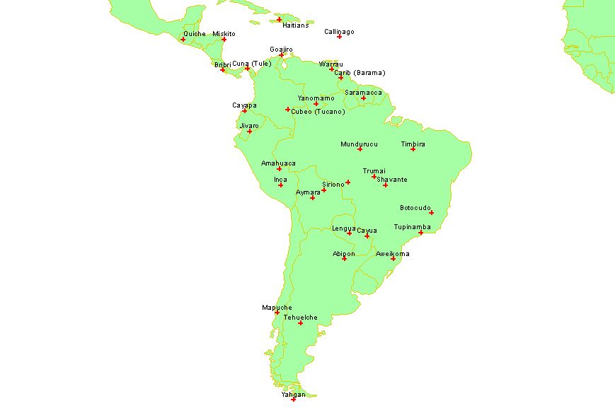 South america SCCS cultures